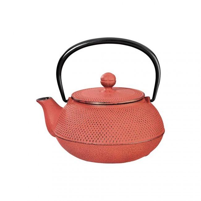 Arare Red Cast Iron Teapot 0.3L