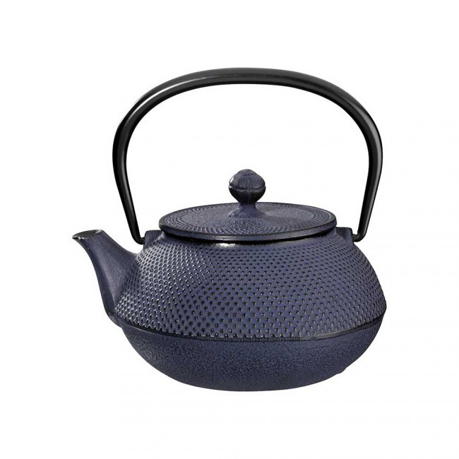 Arare Blue Cast Iron Teapot 0.55L