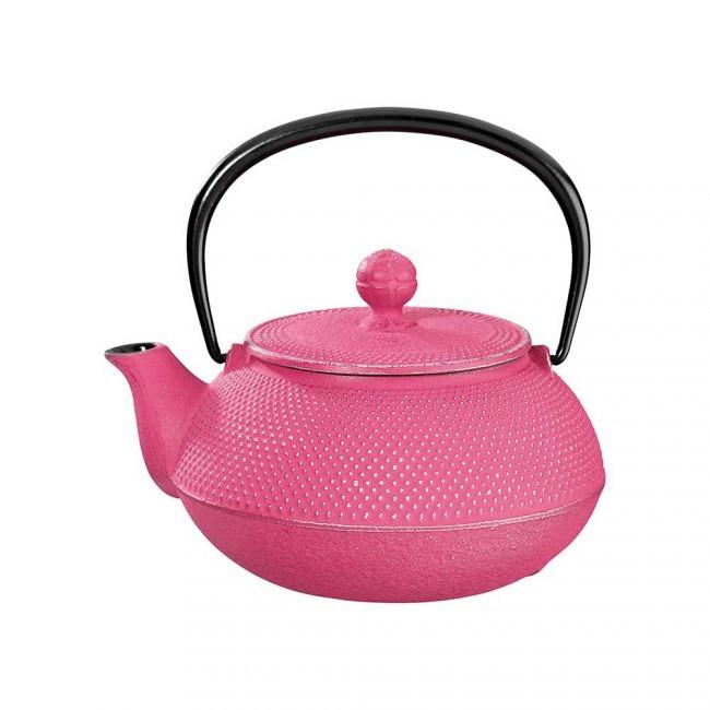 Arare Silver Fuchsia Cast Iron Teapot 0.55L