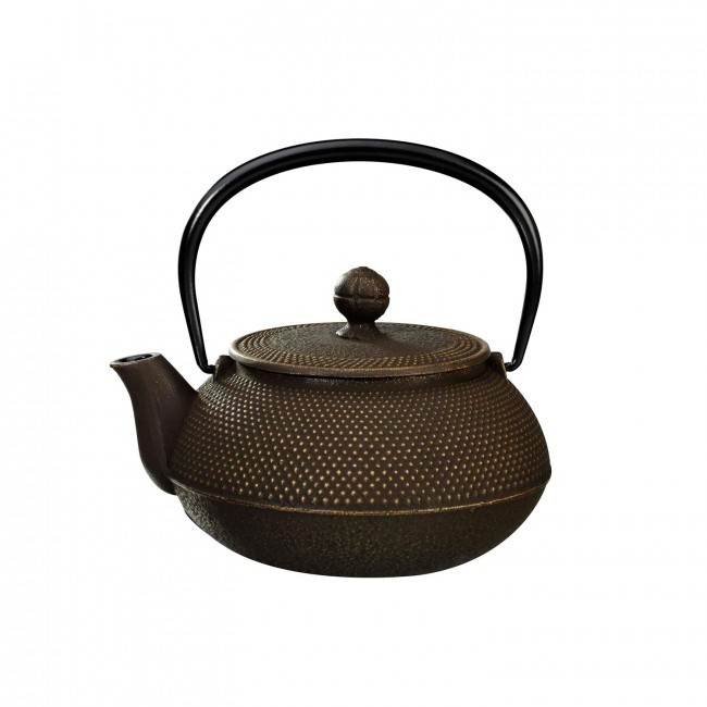 Arare Gold Brown Cast Iron Teapot 0.55L