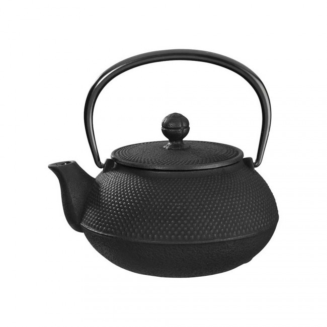 Arare Black Cast Iron Teapot 0.55L