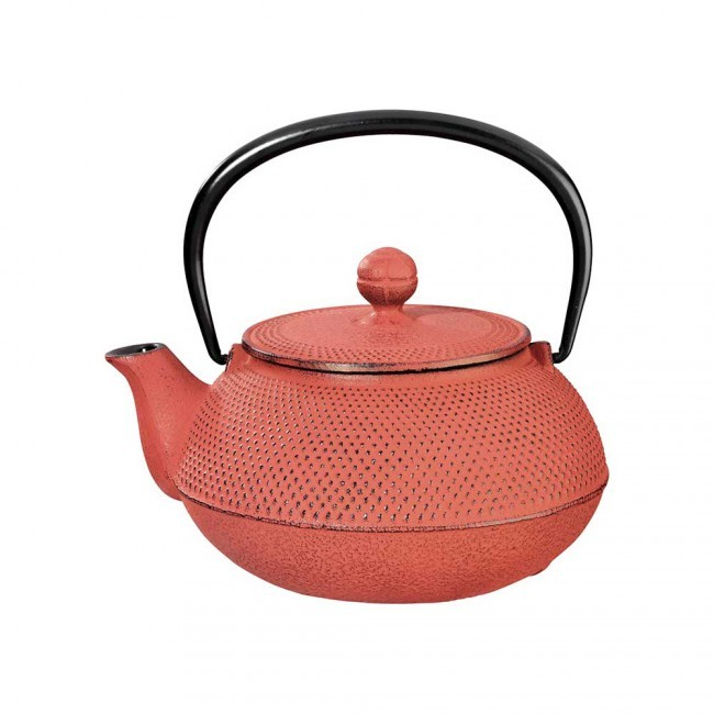 Arare Red Cast Iron Teapot 0.55L