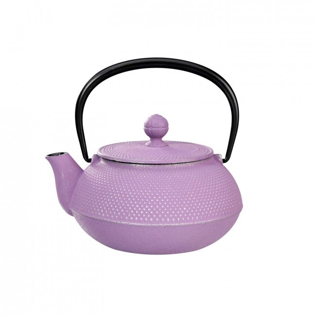 Arare Silver Purple Cast Iron Teapot 0.55L