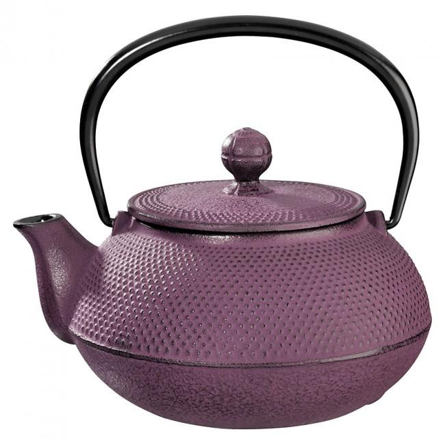 Arare Plum Cast Iron Teapot 0.8L