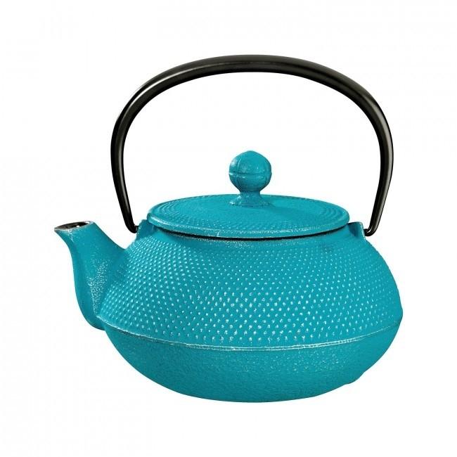Arare Silver Turquoise Cast Iron Teapot 0.8L
