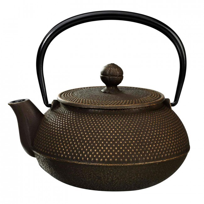 Arare Gold Brown Cast Iron Teapot 1.15L