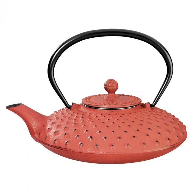 Kambin Red Cast Iron Teapot 0.75L