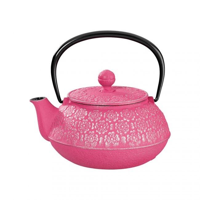 Sakura Silver Fuchsia Cast Iron Teapot 0.55L