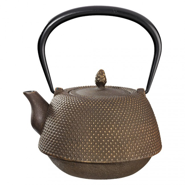 Nanbu Gold Brown Cast Iron Teapot 0.95L