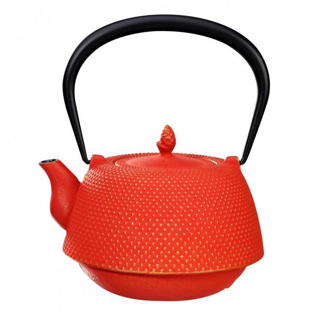 Nanbu Gold Red Cast Iron Teapot 0.95L