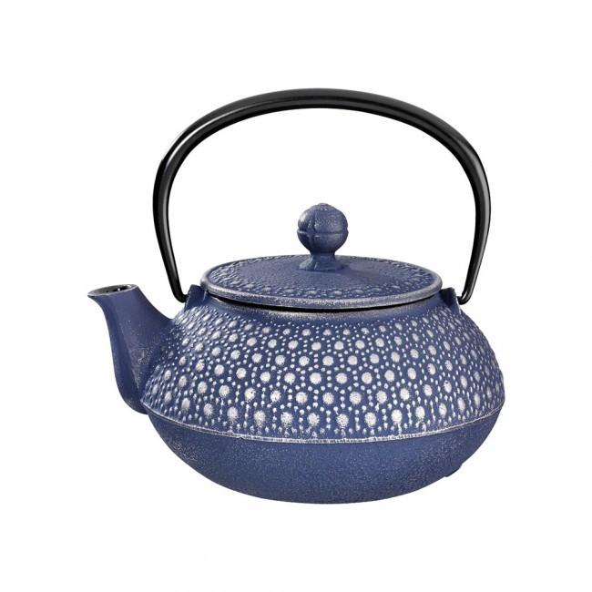Kikko Silver Blue Cast Iron Teapot 0.55L