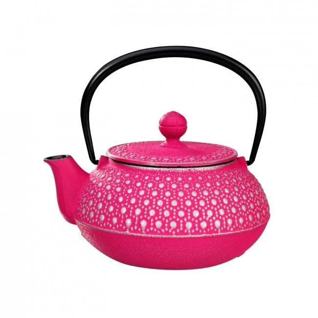 Kikko Silver Fuchsia Cast Iron Teapot 0.55L