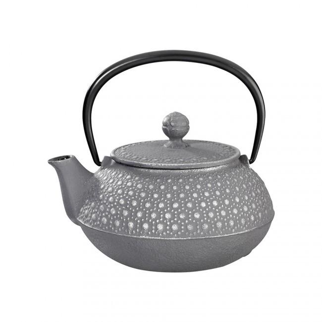 Kikko Silver Grey Cast Iron Teapot 0.55L