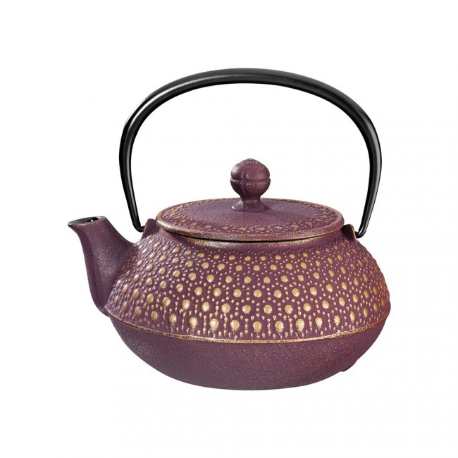 Kikko Gold Plum Cast Iron Teapot 0.55L