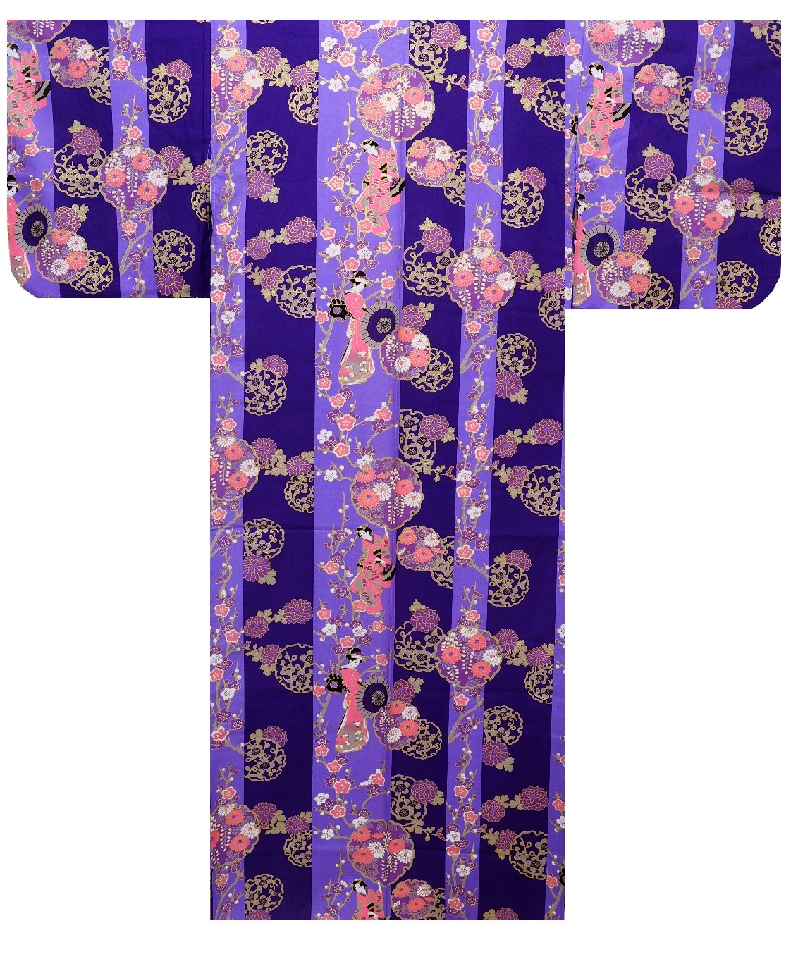 Ladies Yukata - Geisha - Purple