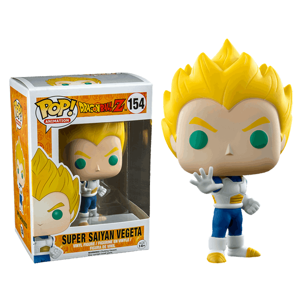 POP! Vinyl: Dragonball Z: Super Saiyan Vegeta Blue & White (Exc) - 10 cm