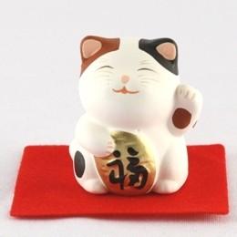 Maneki Neko - Lucky Cat Brown & Black
