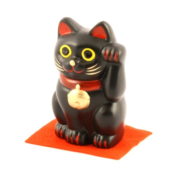 Maneki Neko - Black Lucky Cat M