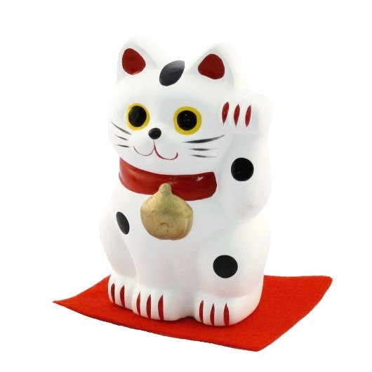 Maneki Neko - White Lucky Cat M