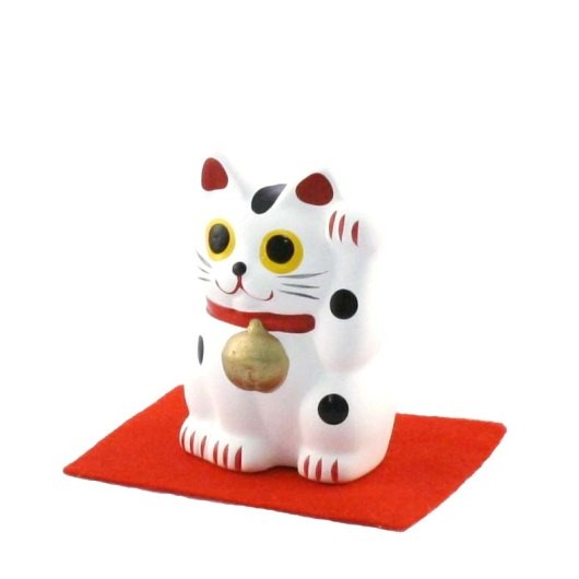 Maneki Neko - White Lucky Cat S