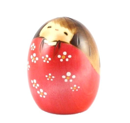 Kokeshi Doll - Happy Pink