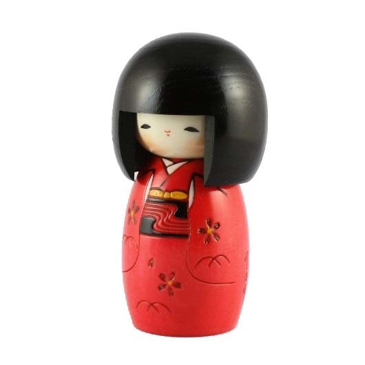 Kokeshi Doll - Child Red