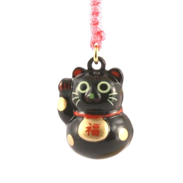 Maneki Neko Lucky Cat Black Charm