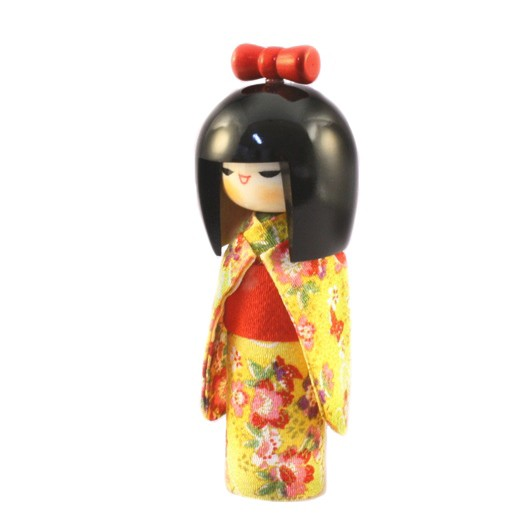 Kokeshi Doll - Osumashi Yellow