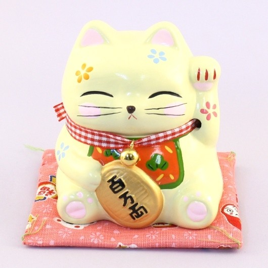 Maneki Neko - Lucky Cat Money Box Yellow (M)