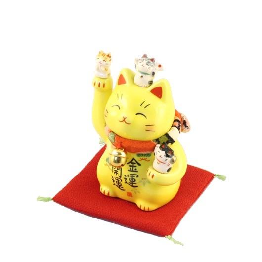 Maneki Neko - Yellow Lucky Cat - Inviting Money
