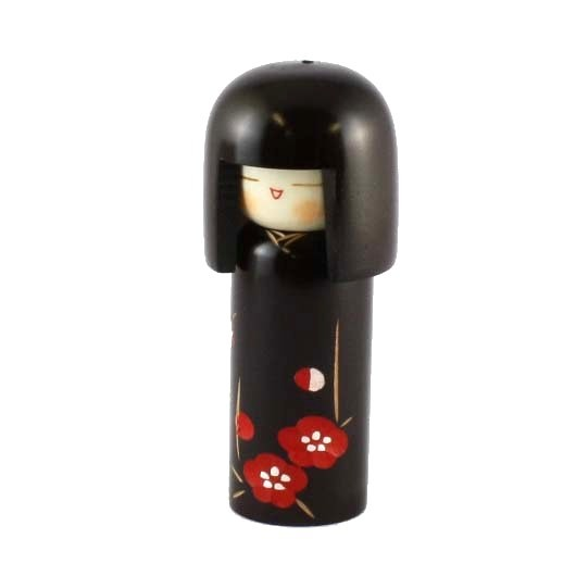 Kokeshi Doll - Plum Heart