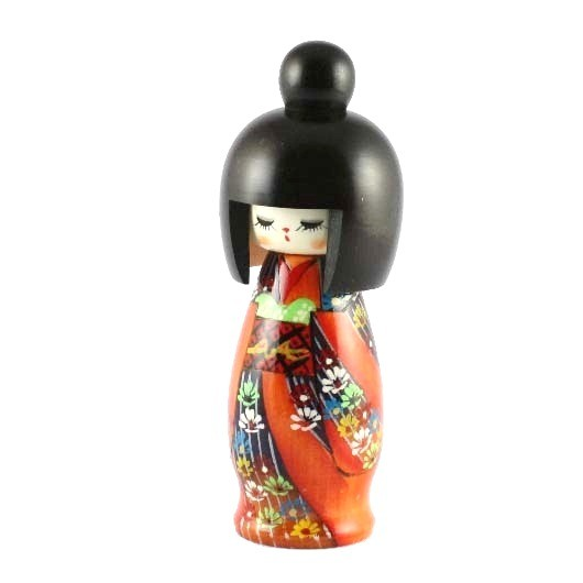 Kokeshi Doll - All Flowers
