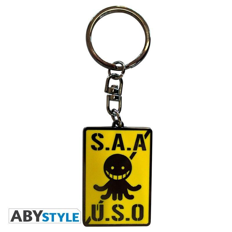 """ASSASSINATION CLASSROOM - Keychain """"S.A.A.U.S.O"""""""