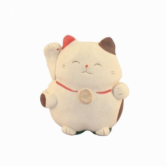 Maneki Neko - Clay Lucky Cat Right Hand (B)