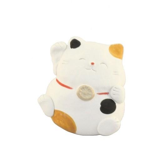 Maneki Neko - Clay Lucky Cat Right Hand (W)