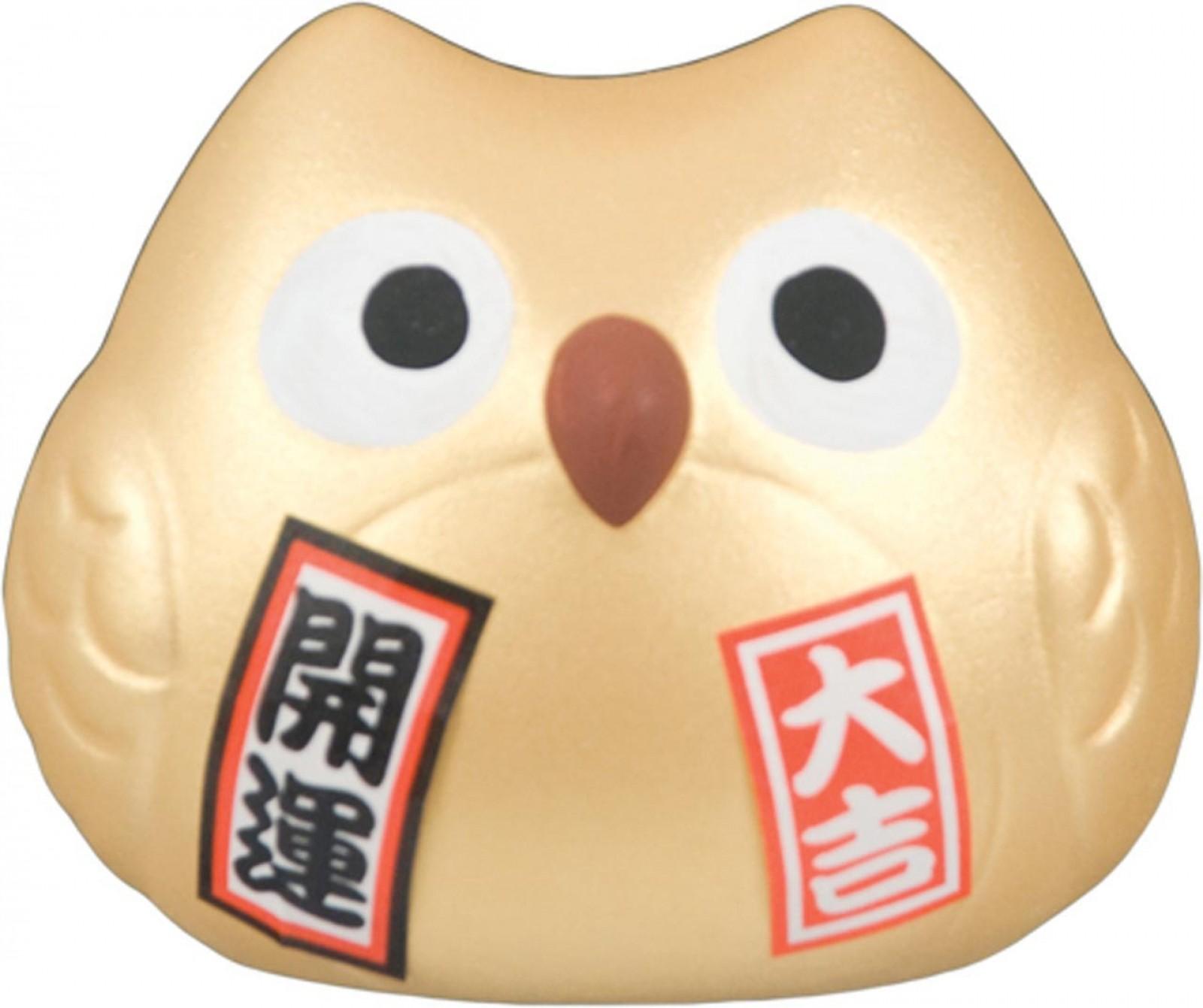 Lucky Owl - Gold - Wealth & Prosperity -  5.5 cm
