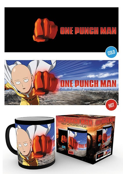 One Punch Man - Mug 300 ml / 10 oz - Heat Mugs Saitama