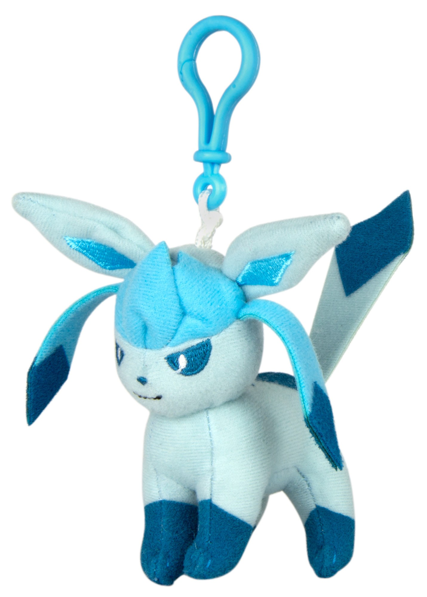 Pokemon Eeveelution Glaceon Clip-on Plush Keychain