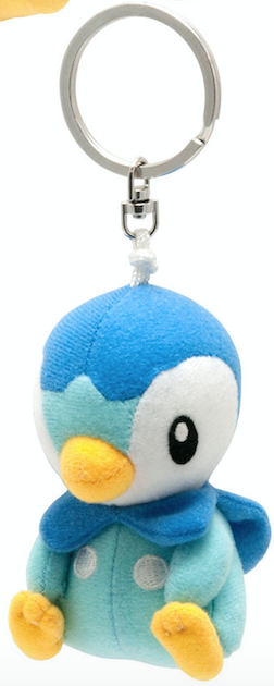 Pokemon Piplup Clip-on Plush Keychain