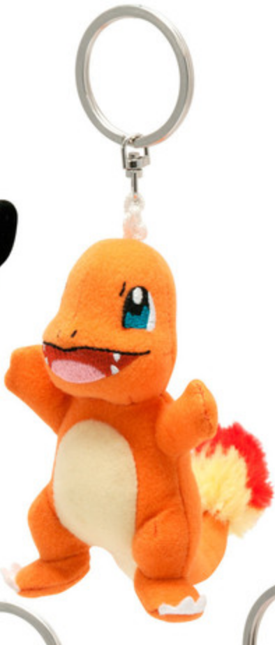 Pokemon Charmander Clip-on Plush Keychain