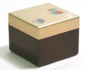 Lacquer Box - Golden Temari Case