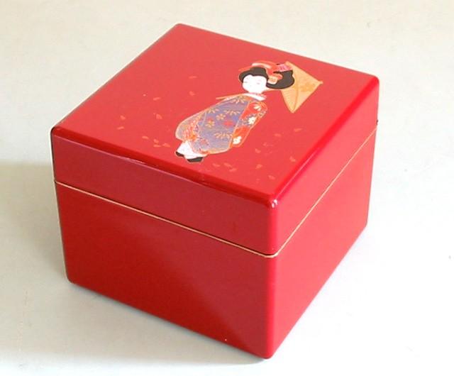 Lacquer Box - Red Maiko Accessory Case