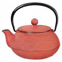 Arare Red Cast Iron Teapot 0.8L
