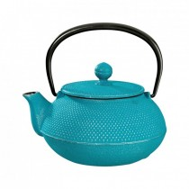 Arare Silver Turquoise Cast Iron Teapot 0.8L