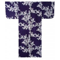 Ladies Yukata - Cherry Blossoms - Navy