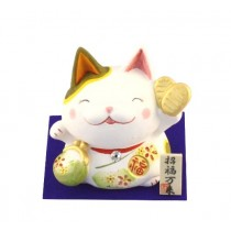 Maneki Neko - Saving Money Box Lucky Cat Green Purse