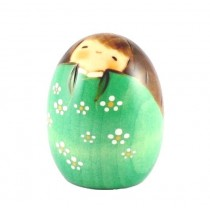 Kokeshi Doll - Happy Green