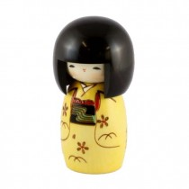 Kokeshi Doll - Child Yellow