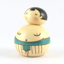 Kokeshi Doll - Sumo Blue