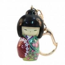 Kokeshi Doll Keyring Kasa Blue